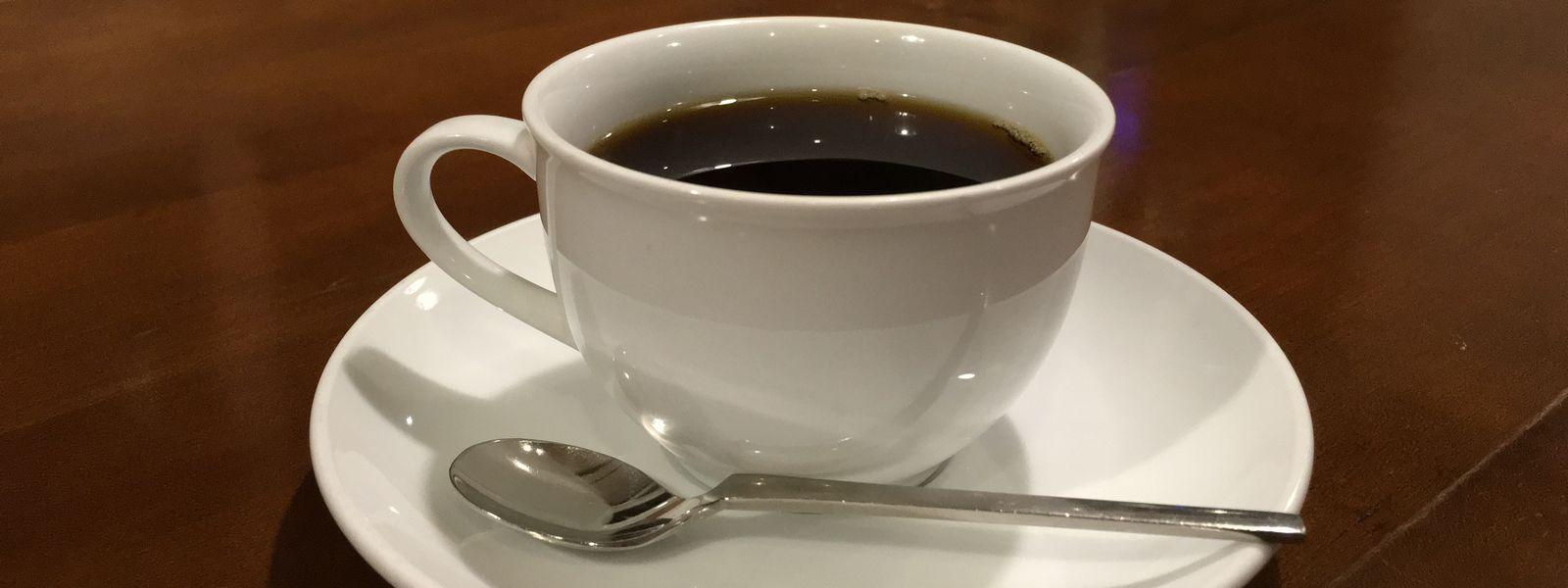 サイフォンで淹れたこすたりかのコーヒー