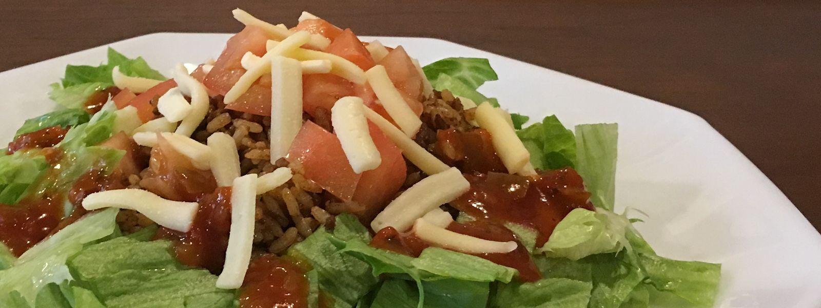 お野菜たっぷりサラダ感覚のライスタコス